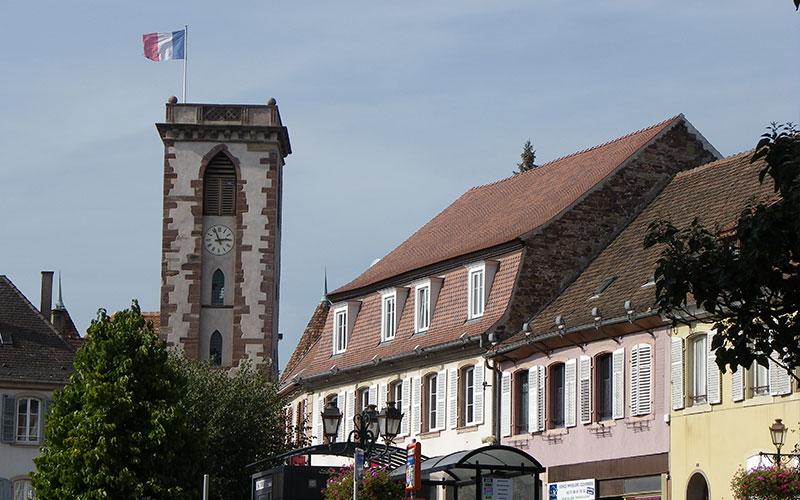 Le centre ville à Wasselonne