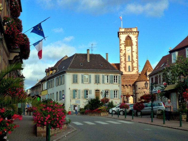Centre ville de Wasselonne en Alsace près de Strasbourg