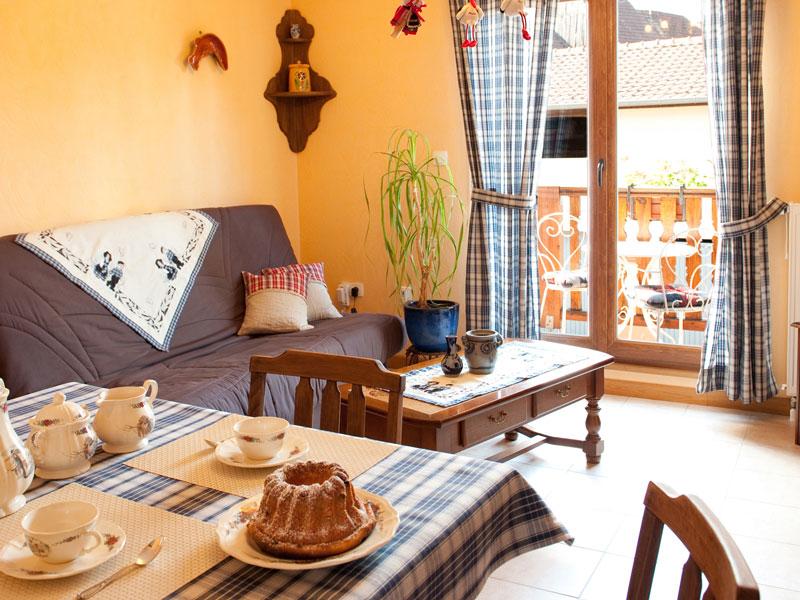 Salon Lohkäs de notre gîte alsacien